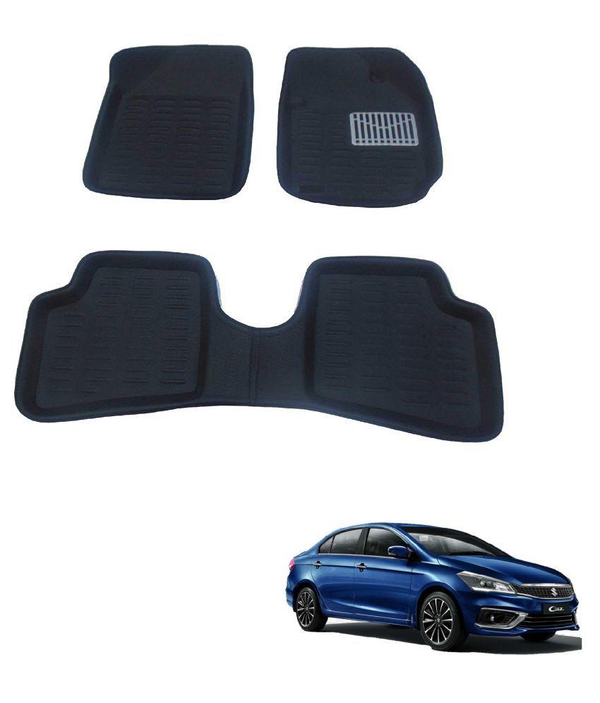 Auto Addict 3D Car Mats Black Color For Maruti Suzuki Ciaz Facelift (2018-Present)