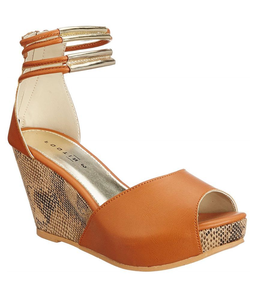 Footin Tan Wedges Heels