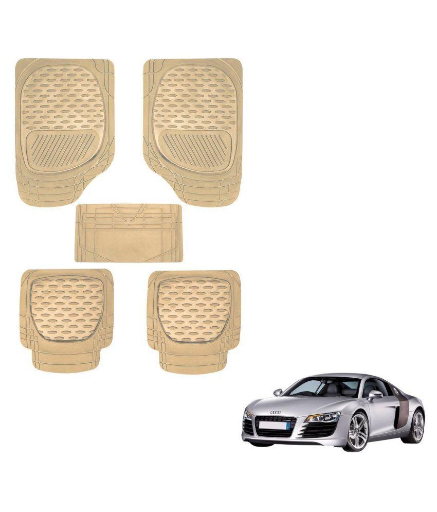 Auto Addict Car 6255 TW Rubber PVC Heavy Mats Beige Color Set Of 5 Pcs For Audi R8