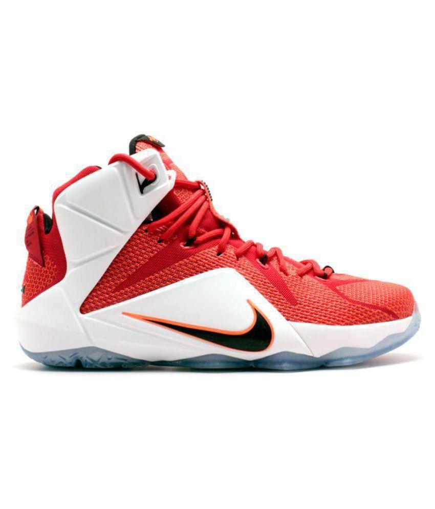 Nike LEBRON 12 LION Red Basketball