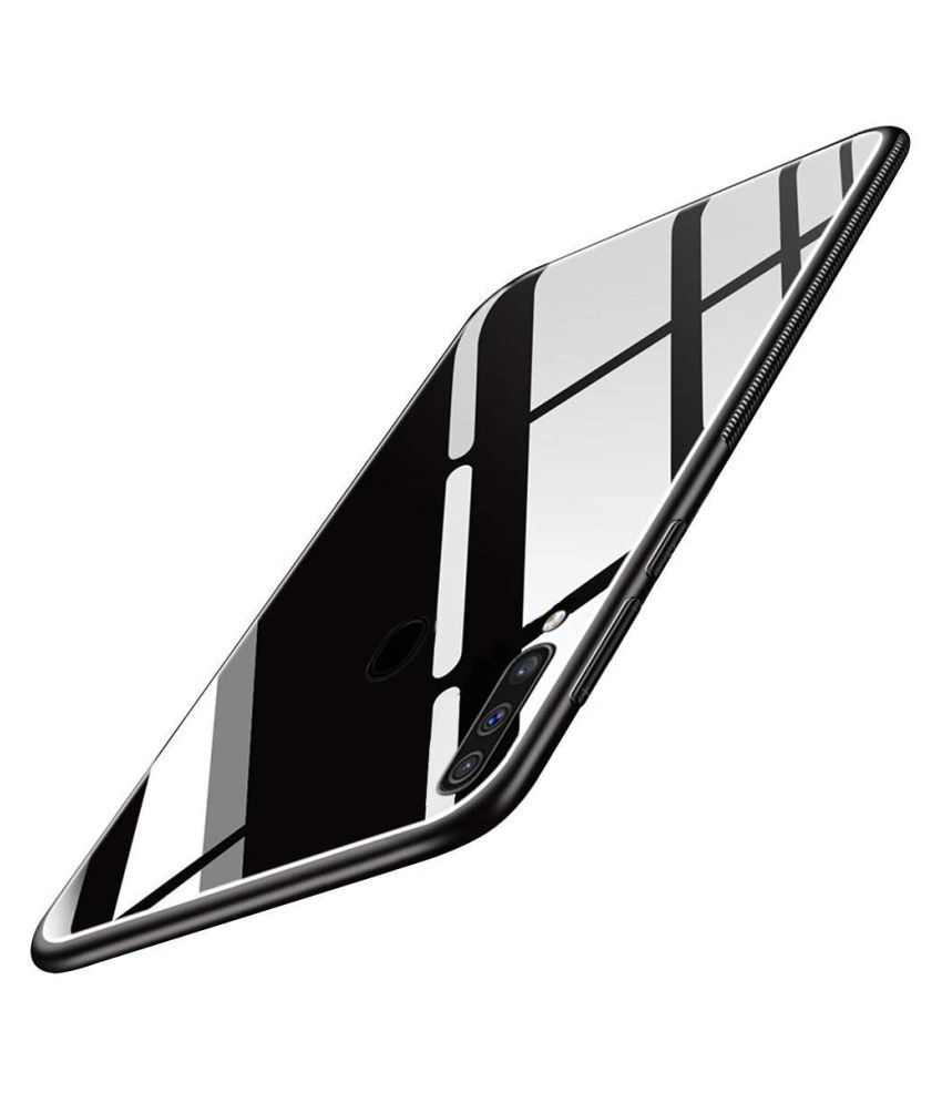 Samsung Galaxy M40 Glass Cover Doyen Creations - Black 360°  Luxurious Toughened Glass Back Case