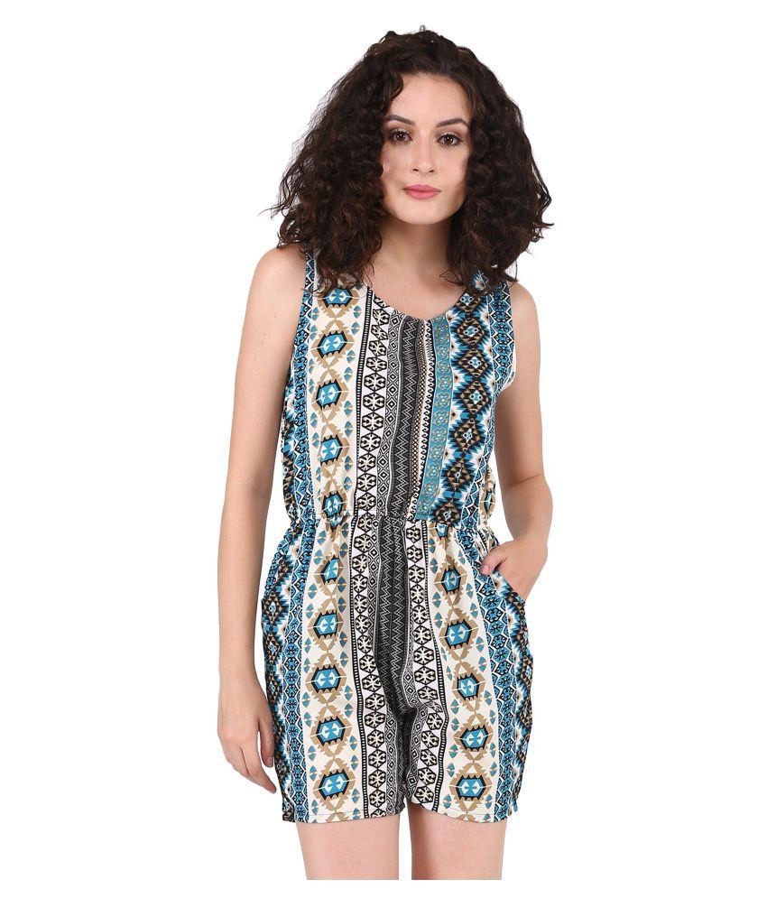 Triraj Multi Color Rayon Jumpsuit