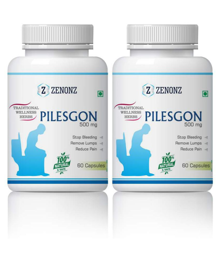 zenonz Pilesgon Bleeding & Non Bleeding Capsule 500 mg Pack Of 2