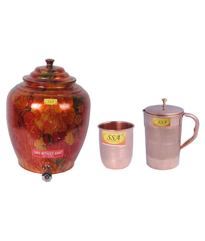 Shiv Shakti Arts Drinkware Combo 3 Pcs Jug and Glass Combo