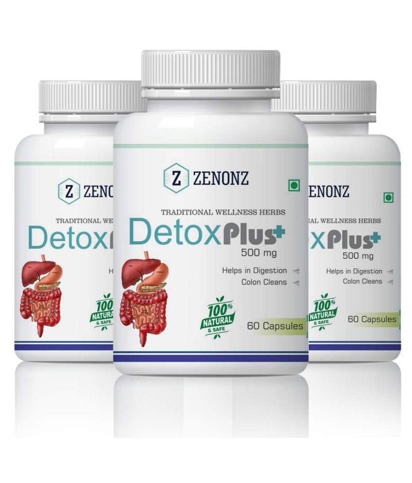 zenonz Detox Digestion Food & Bodies Immune Capsule 500 mg Pack of 3
