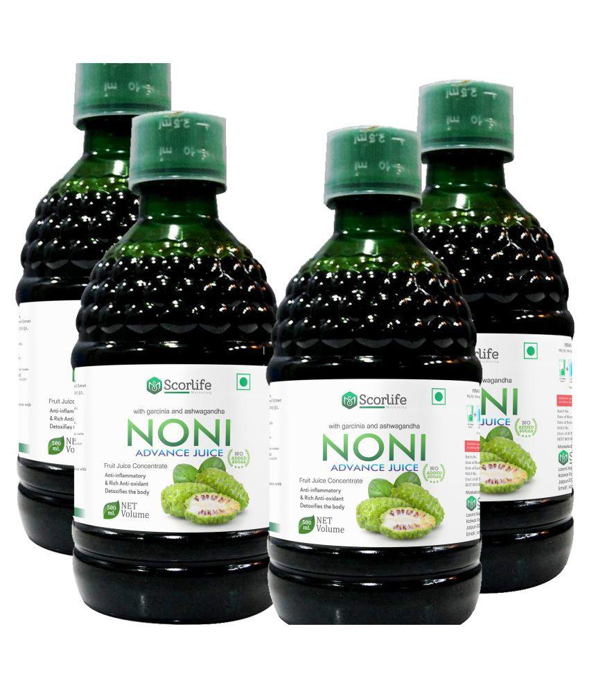 Scorlife Noni Advance Juice [Pack of 4] Health Drink 500 ml