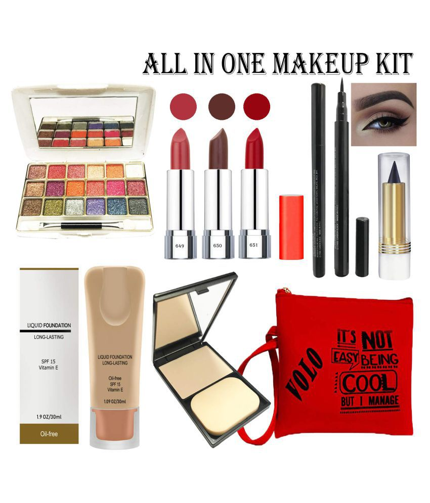 VOLO VOLO MAKEUPKITC7 Makeup Kit Pack of 7 500
