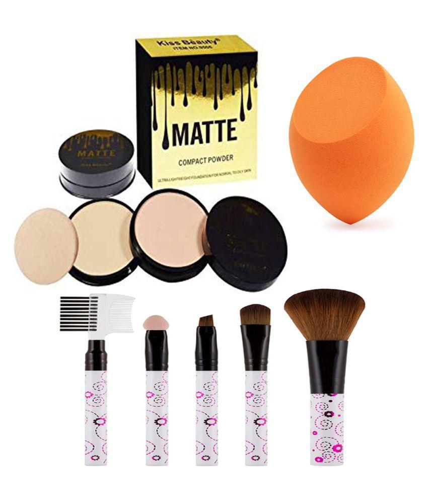 BELLA HARARO Kiss Beauty Matte Compact Powder, Brush set 5