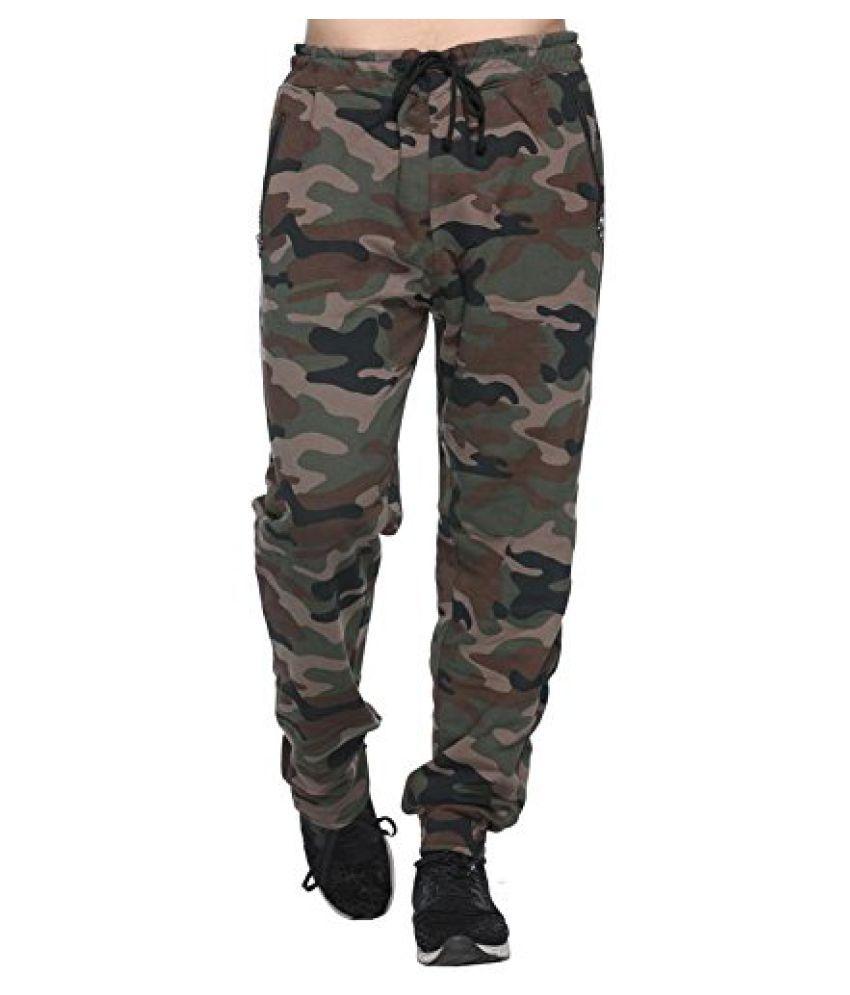 AGLOBI INDIAS NO-1 BRAND Dark Green Regular -Fit Flat Trousers