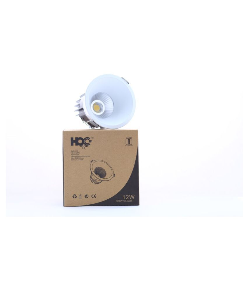HOC LIGHT Aluminium Wall Light White - Pack of 1