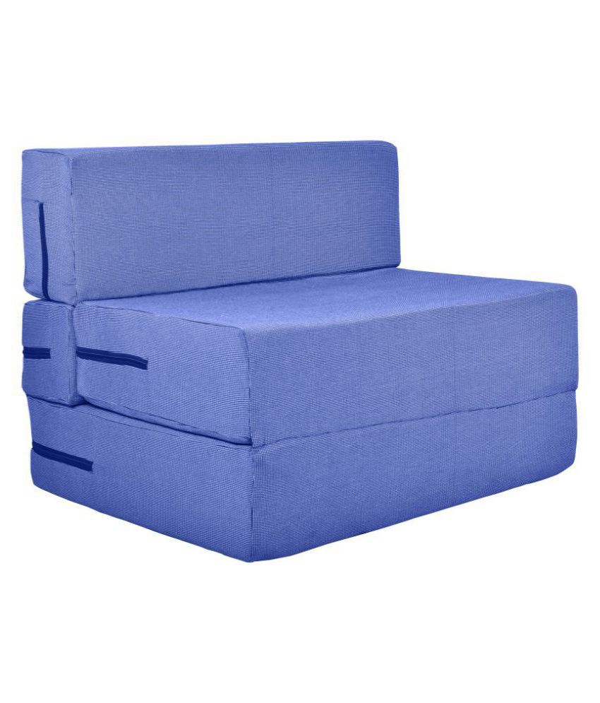 Surprising Comfy Space Saving Furniture Foldable Sofa Cum Bed With Removable Washable Fabric Cover 3 X 6 Ft Blue Spiritservingveterans Wood Chair Design Ideas Spiritservingveteransorg