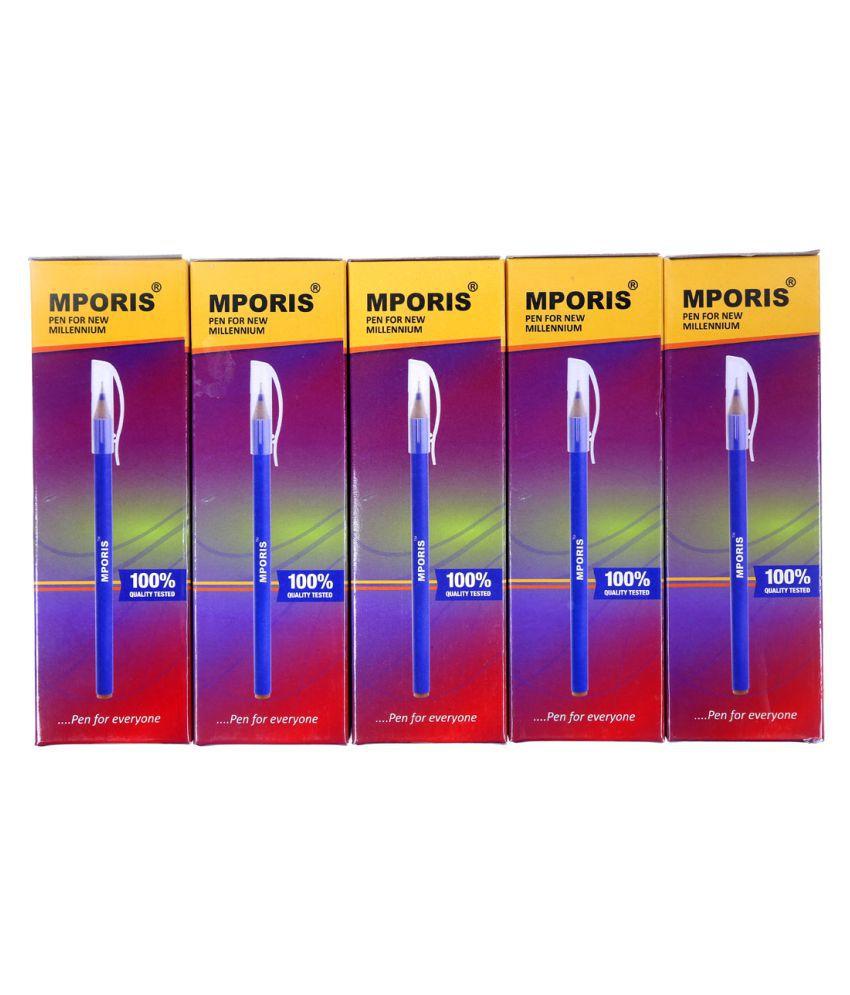 Mporis Hotgel Ball Pen   Pack of 100  Blue, 20X05