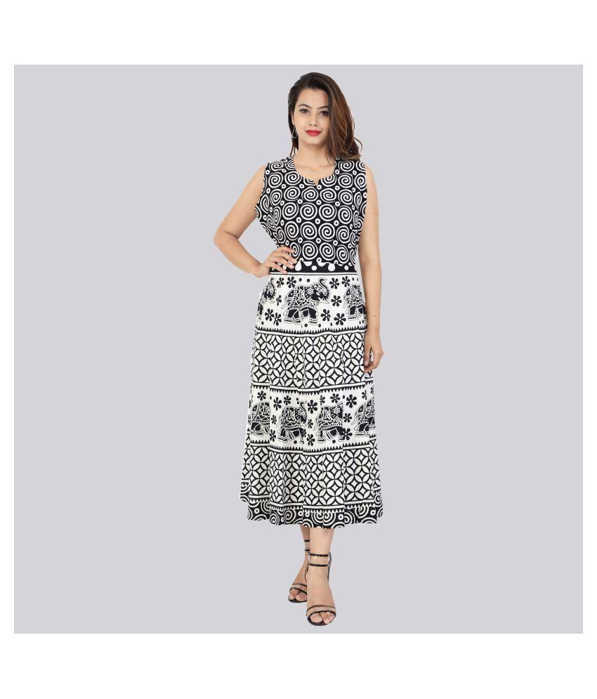 Rangun Cotton Black Regular Dress