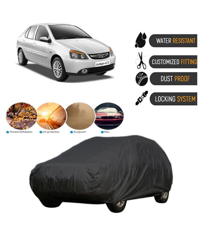 QualityBeast Car Body Cover for  Tata Indigo eCS Black