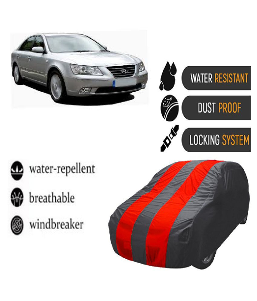 QualityBeast Car Body Cover for  Hyundai Sonata Embera [2005-2009] Mahroon Grey