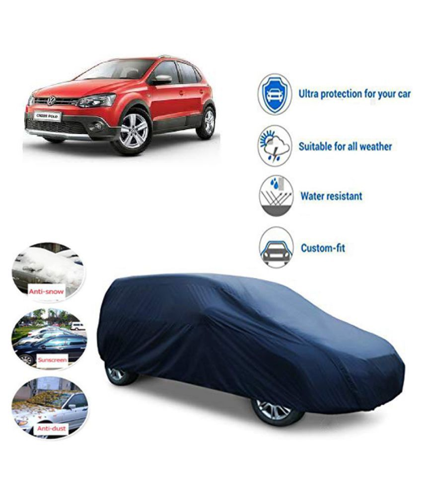 QualityBeast Car Body Cover for  Volkswagen Cross Polo [2014-2015] Blue