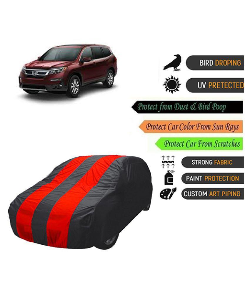 QualityBeast Car Body Cover for  Honda Pilot Mahroon Black