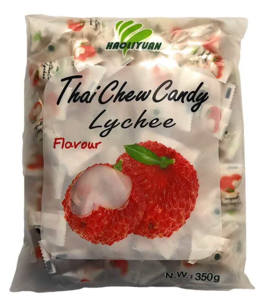 Imported Haoliyuan Lychee Flavour Thai Chew Candy Filled Candies 350 gm