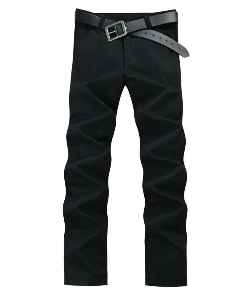 100% Cotton Men's Casual Fashion Silm Fit Pants Business Trouser