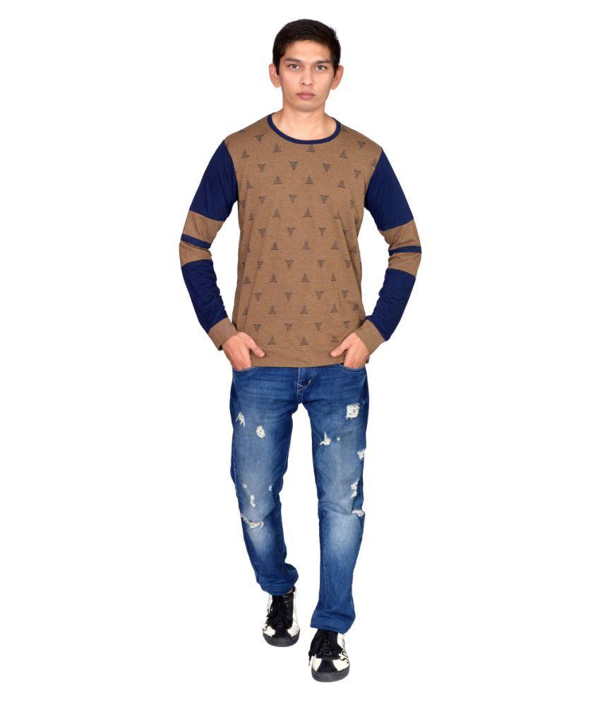 COOL N COMFORT Cotton Blend Maroon Checks T-Shirt