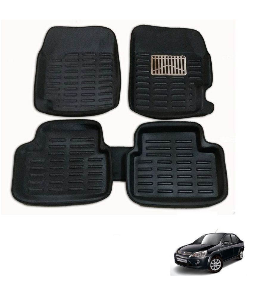 Auto Addict 3D Car Mats Black Color For Ford Fiesta Classic