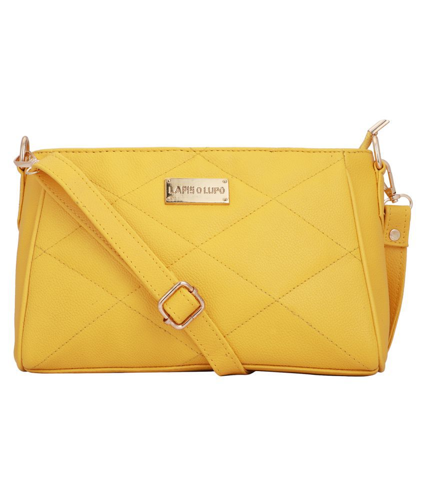 Lapis O Lupo Yellow Synthetic Casual Messenger Bag