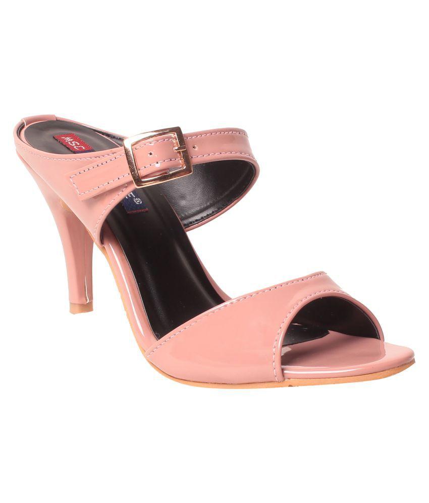 MSC Pink Cone Heels