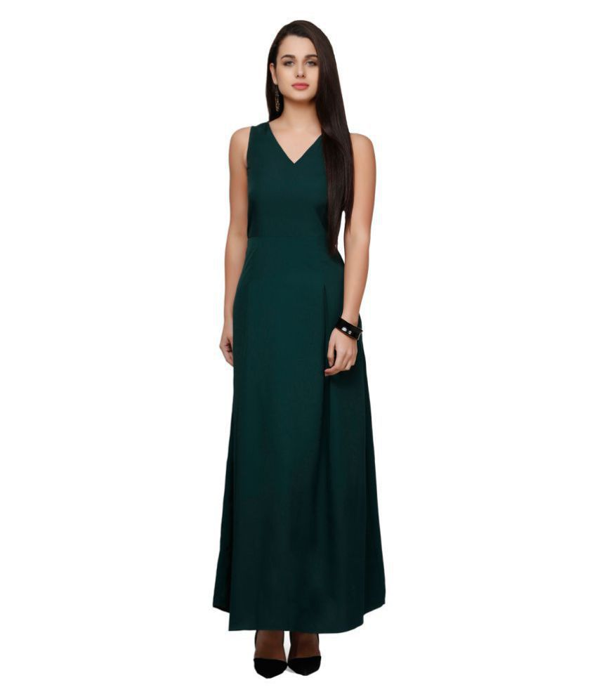 V&M Crepe Green Empire Dress