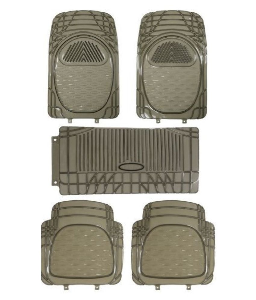 Autofetch Car Floor/Foot Mats (Set of 5) Smoke for Maruti Ertiga