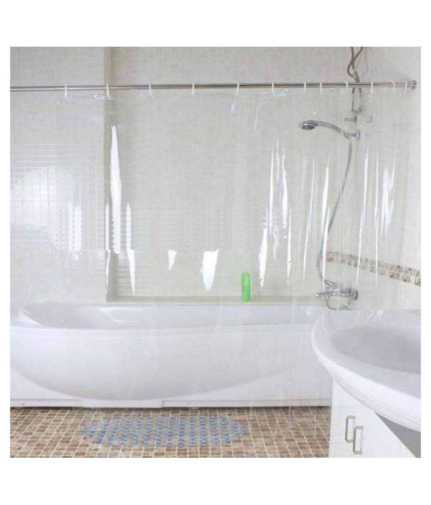 Dakshya Industries Single Door Transparent Eyelet PVC AC Curtains White