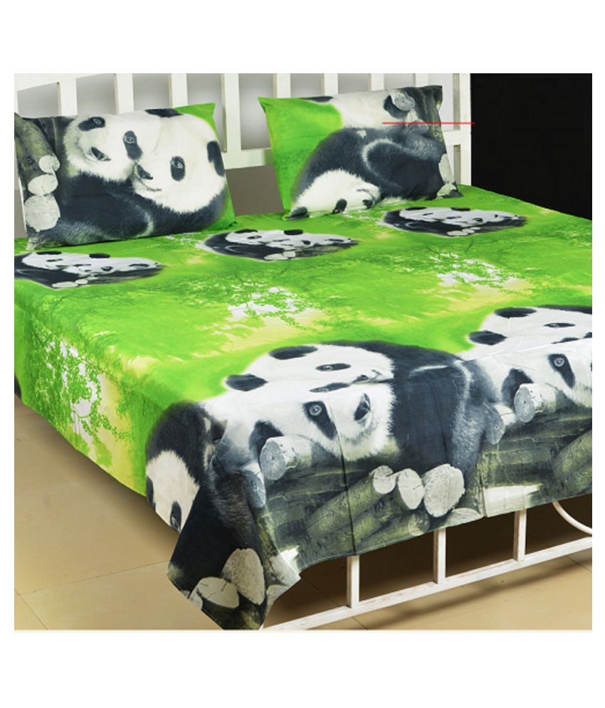 Every1 Poly Cotton Double Bedsheet with 2 Pillow Covers