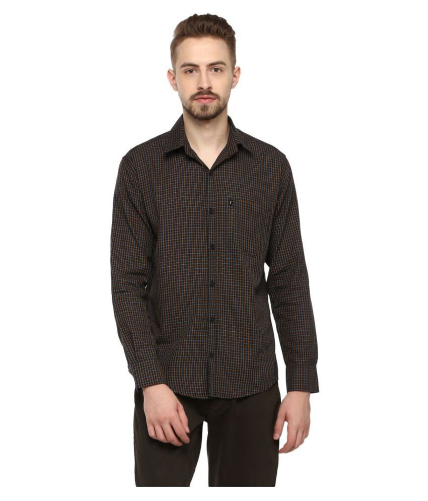 Levizo 100 Percent Cotton Black Checks Shirt
