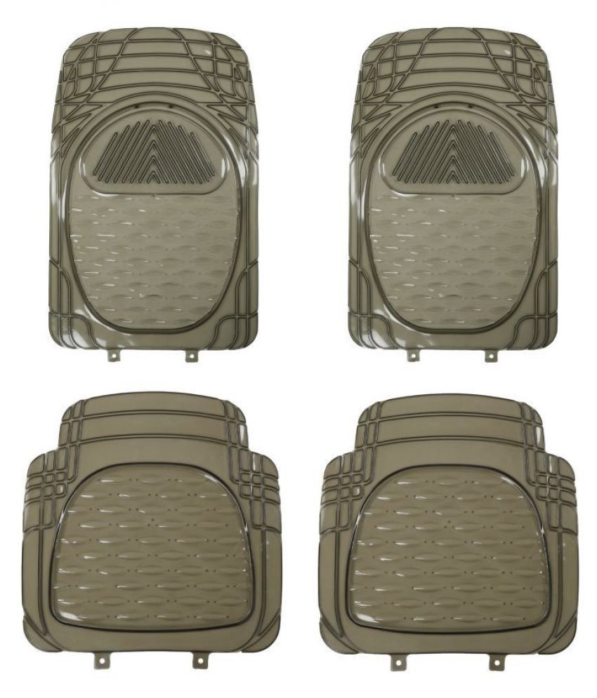 Autofetch Car Floor/Foot Mats (Set of 4) Smoke for Renault New Kwid