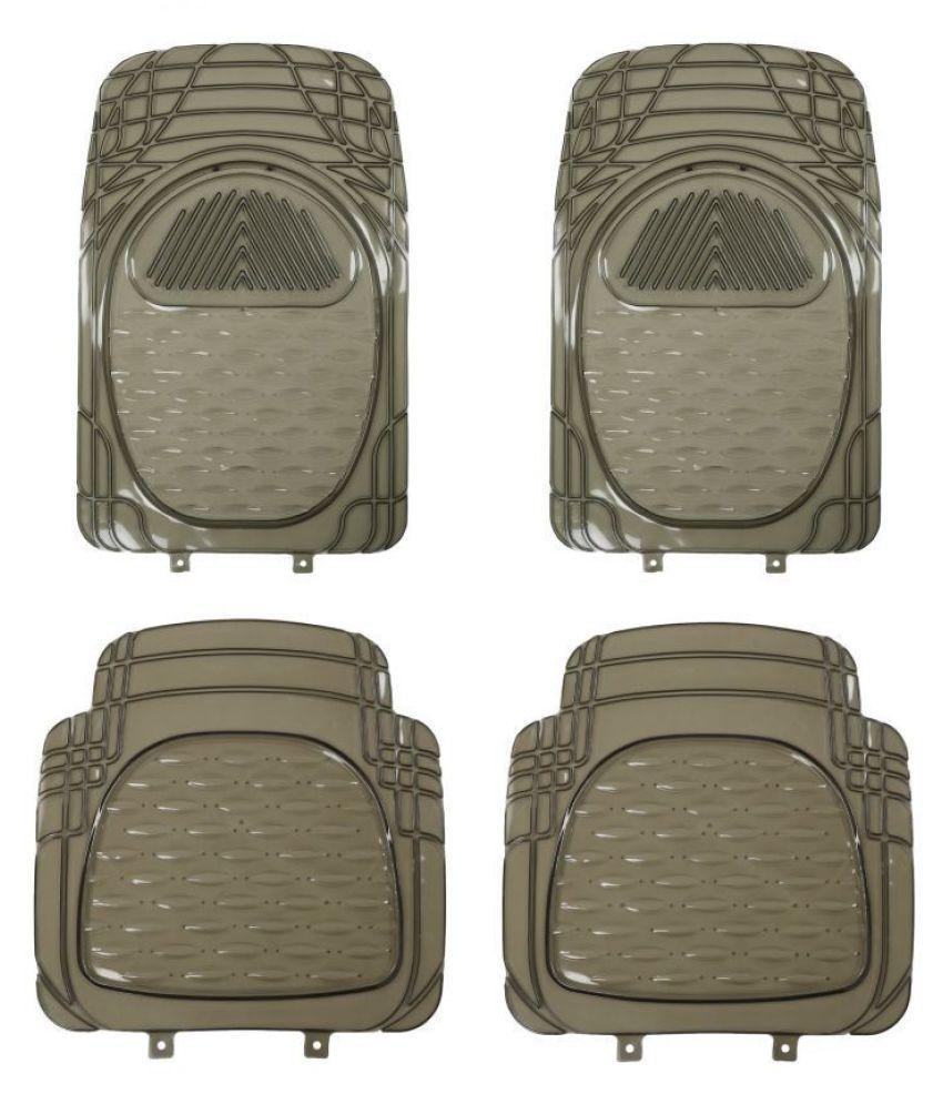 Autofetch Car Floor/Foot Mats (Set of 4) Smoke for Hyundai Verna Fluidic