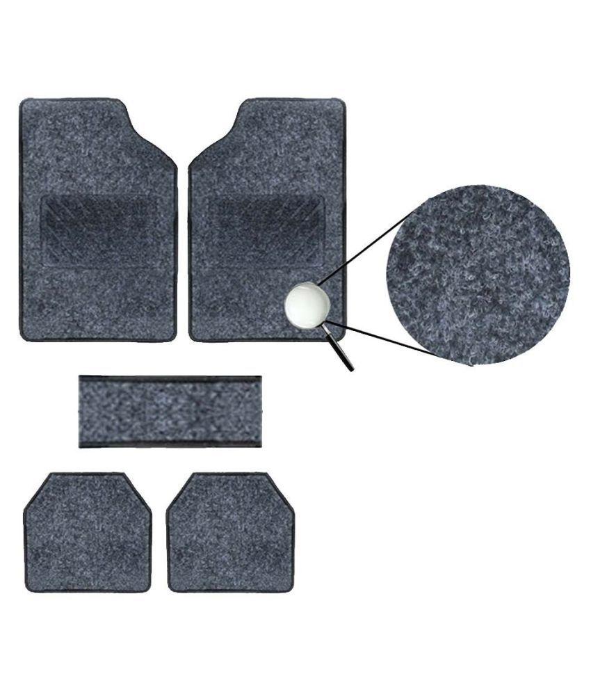 Autofetch Carpet Car Floor/Foot Mats (Set of 5) Black for Tata Indigo CS