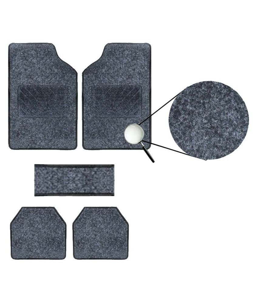 Autofetch Carpet Car Floor/Foot Mats (Set of 5) Black for Hyundai i20 Elite