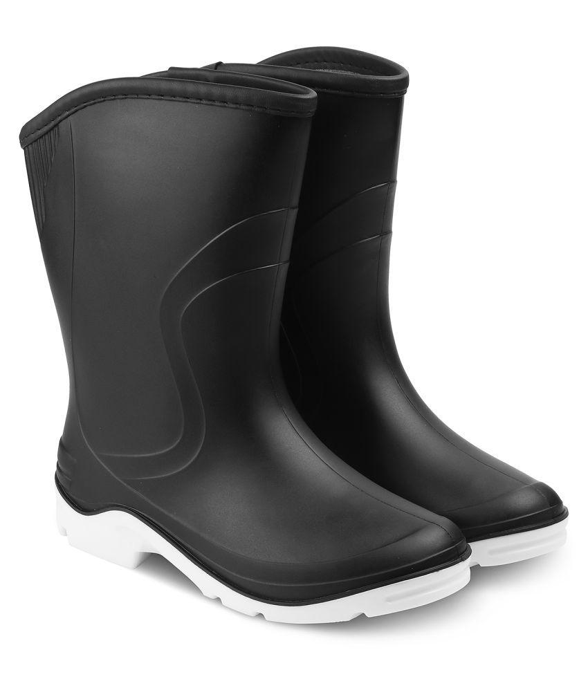 Buy Tresmode Black Mid Calf Rain Boots