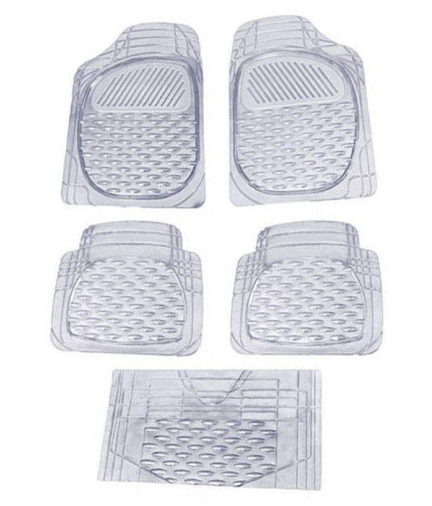 Autofetch Car Floor/Foot Mats (Set of 5) Transparent White for Maruti R Stingray