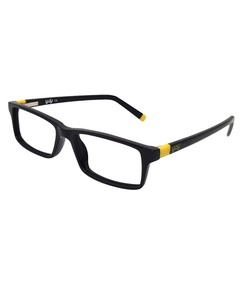 YAY Piggy Rectangle Acetate Blue Color Kids Spectacle Frame by-Enrico