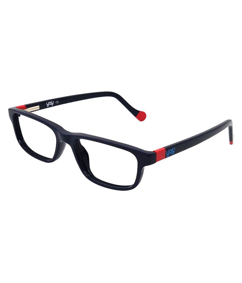 YAY Piggy Rectangle Acetate Brown Color Kids Spectacle Frame by-Enrico