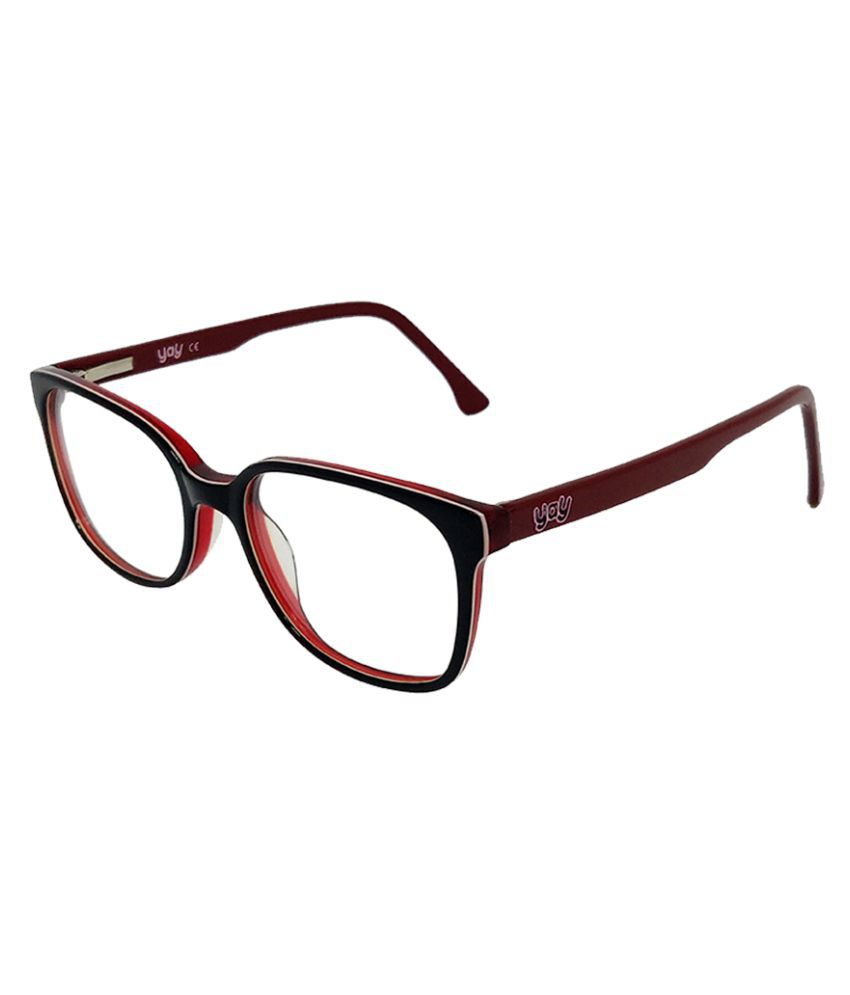 YAY Poppins Square Acetate Red Color Kids Spectacle Frame by-Enrico
