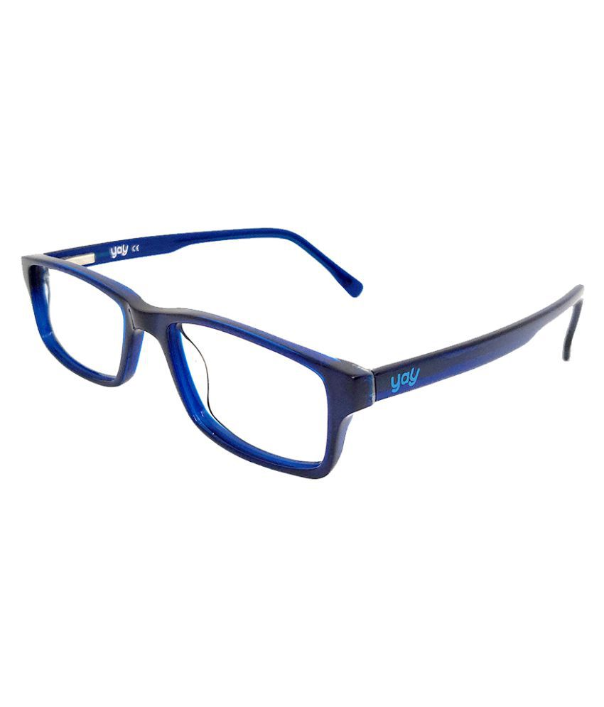YAY Rio Rectangle Acetate Blue Color Kids Spectacle Frame by-Enrico