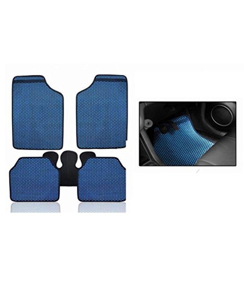 Autofetch Car Eclipse Odourless Floor/Foot Mats (Set of 5) Blue for Nissan Micra