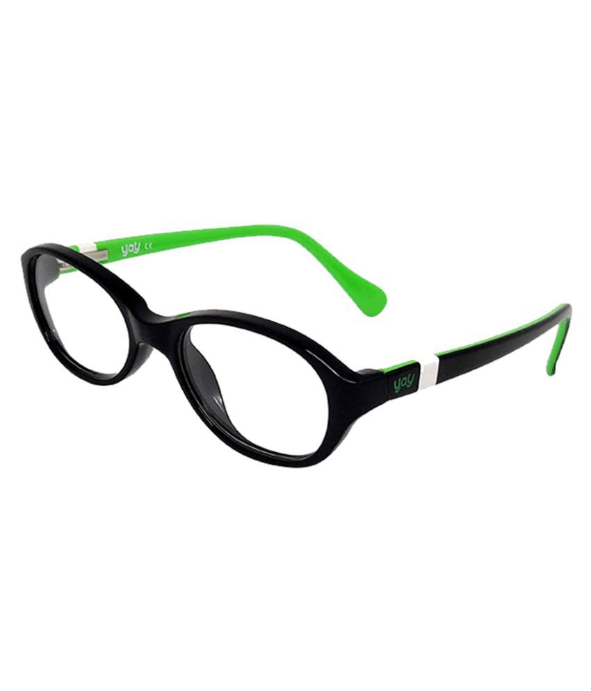 YAY Berry Unisex Oval Acetate Black Color Kids Spectacle Frame by-Enrico