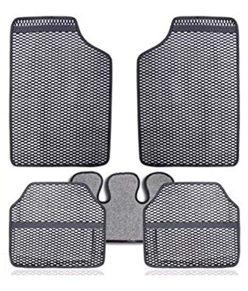 Autofetch Car Eclipse Odourless Floor/Foot Mats (Set of 5) Grey for Maruti 800