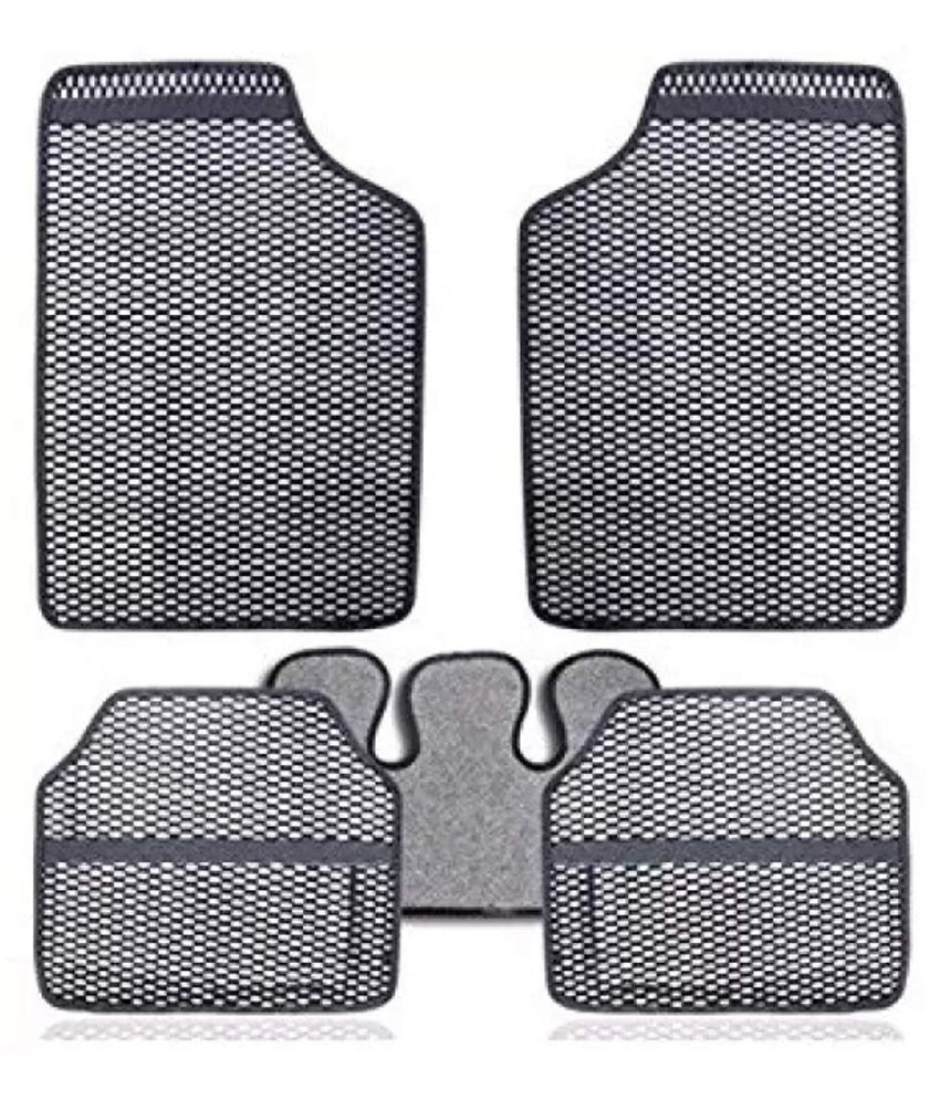 Autofetch Car Eclipse Odourless Floor/Foot Mats (Set of 5) Grey for Maruti Swift Old