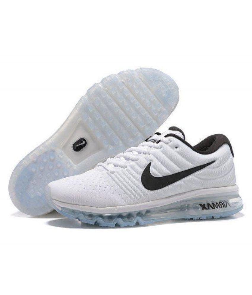 promo code 82b68 80d47 Nike Airmax 2017 White Running Shoes