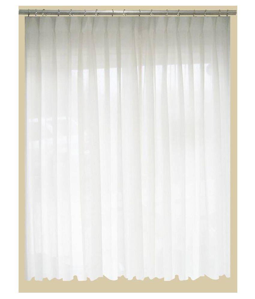 Dakshya Industries Single Door Transparent Ring Rod PVC AC Curtains White