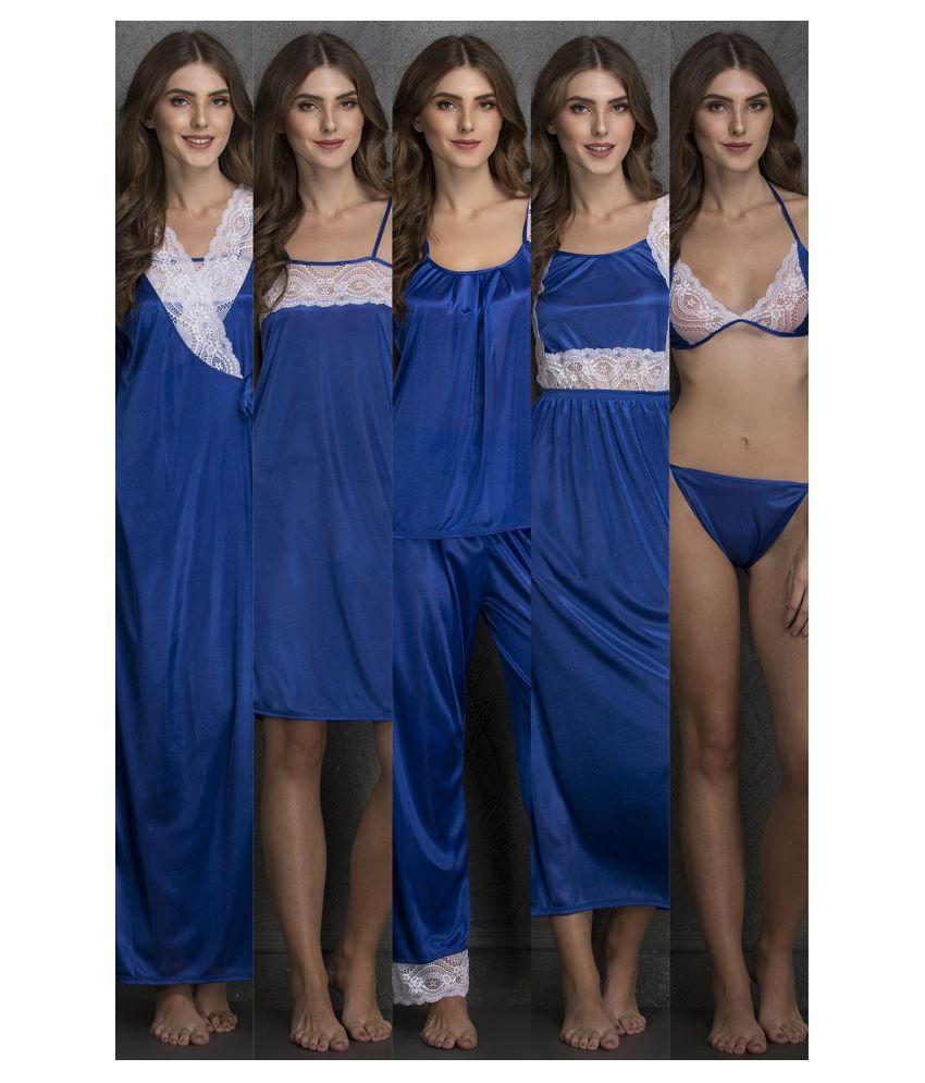 Surpriam Satin Nightsuit Sets - Blue