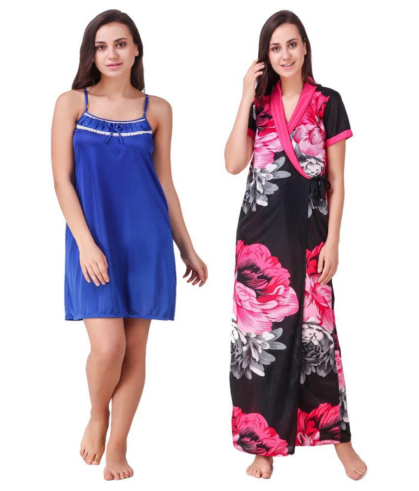Trost Satin Nighty & Night Gowns - Pink